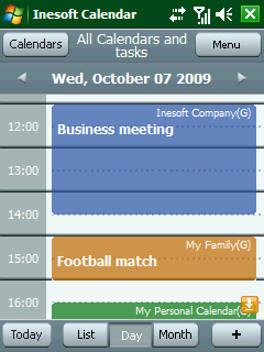 Inesoft Calendar Screenshot